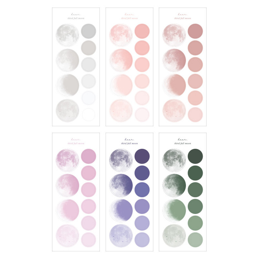Comes with a Sticker - Dash And Dot 2021 Moon small dated weekly diary planner