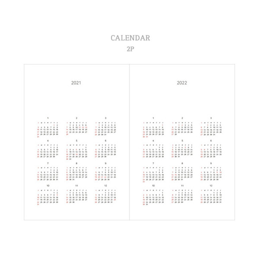 Calendar - Dash And Dot 2021 Moon small dated weekly diary planner