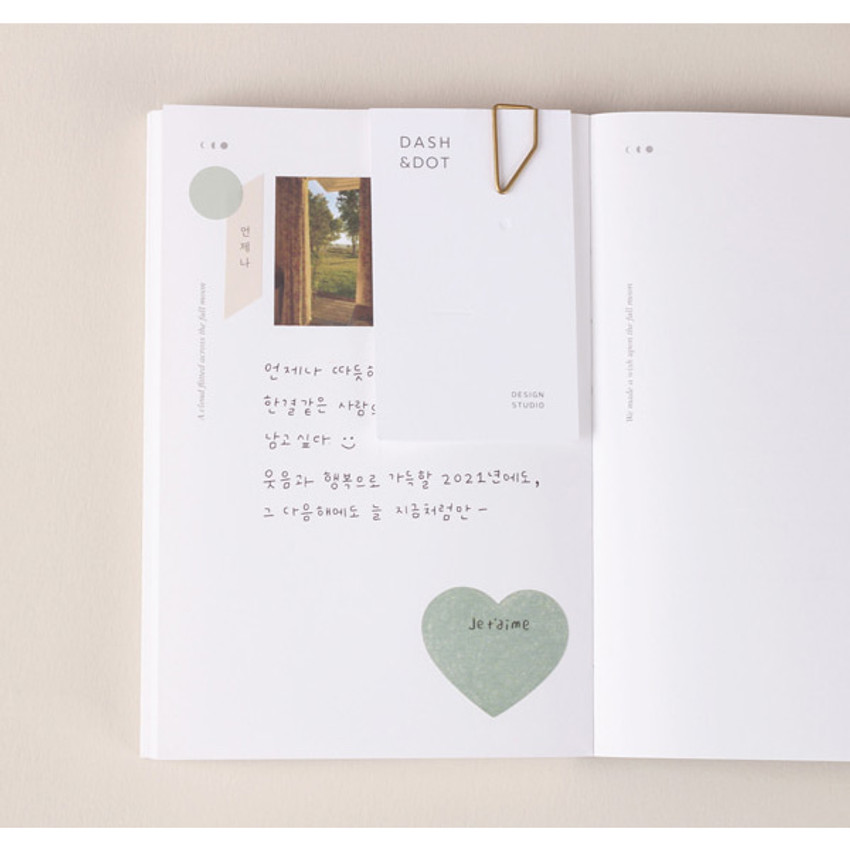 Free note - Dash And Dot 2021 Moon small dated weekly diary planner