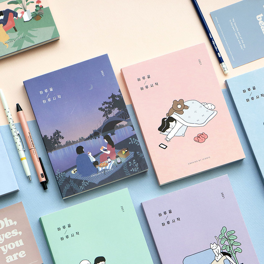 Iconic 2021 End-And dated weekly diary planner
