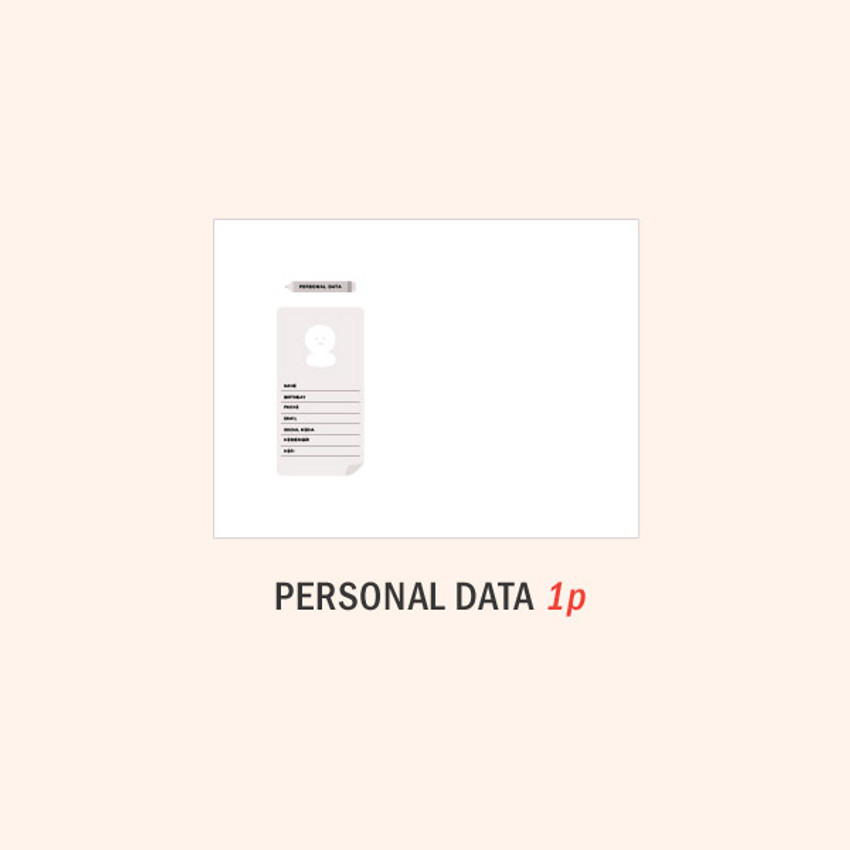 Personal data - ICONIC 2021 Witty dated weekly diary planner