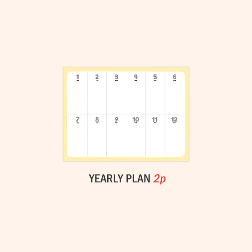 Yearly plan - ICONIC 2021 Witty dated weekly diary planner