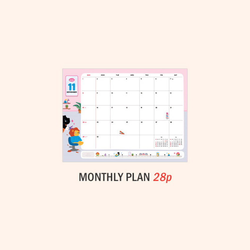 Monthly plan - ICONIC 2021 Witty dated weekly diary planner