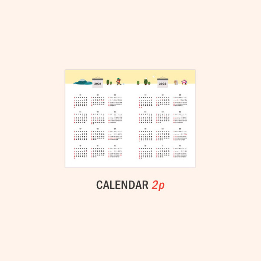 Calendar - ICONIC 2021 Witty dated weekly diary planner