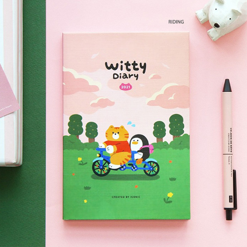 Riding - ICONIC 2021 Witty dated weekly diary planner
