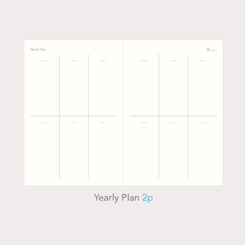 Yearly plan - Paperian Essay drawing dateless weekly diary planner