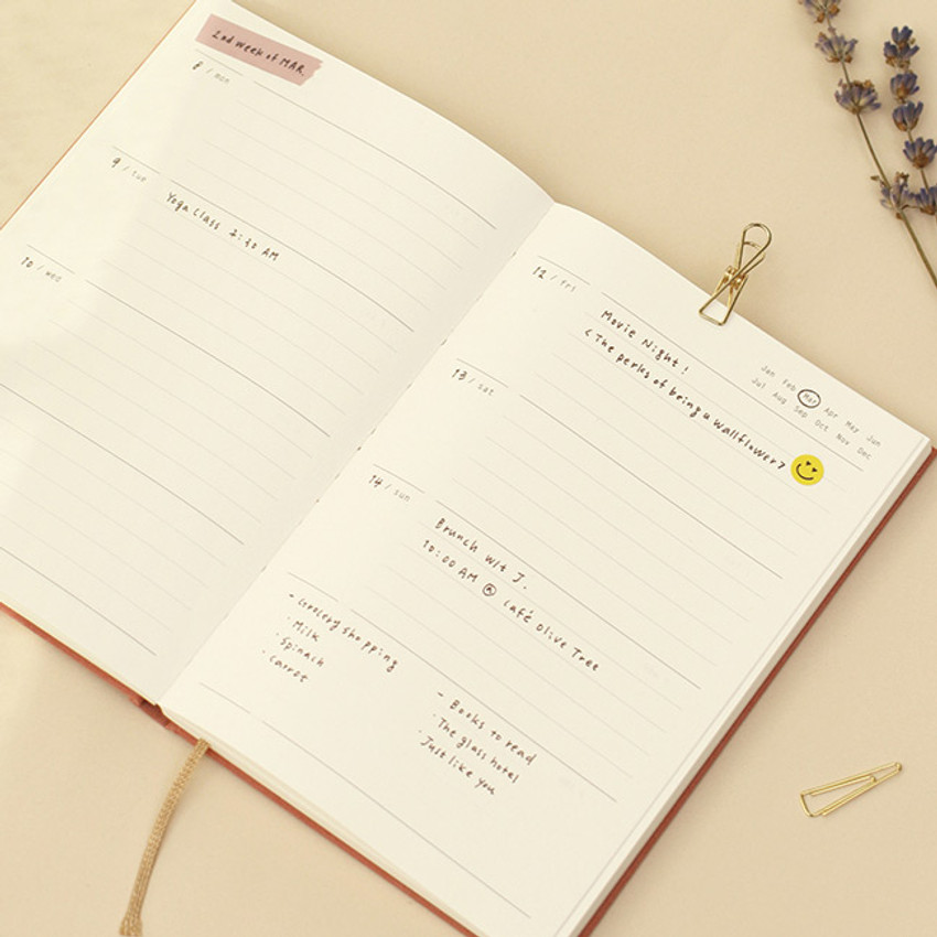 Weekly plan - Paperian Essay drawing dateless weekly diary planner