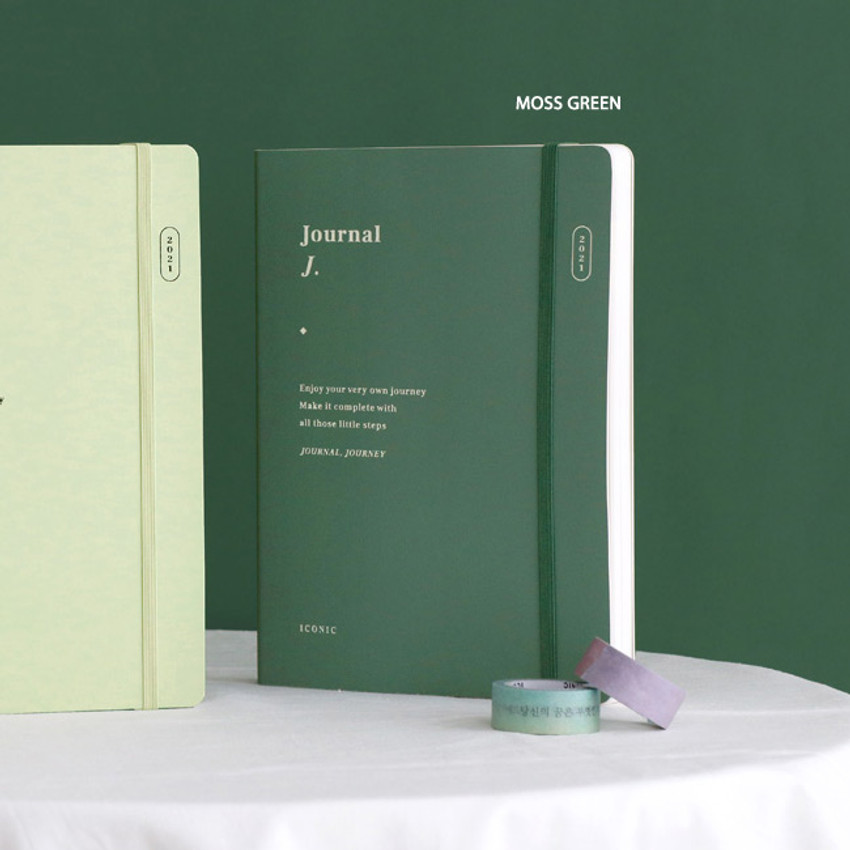 Moss Green - ICONIC 2021 Journal Journey dated weekly diary planner