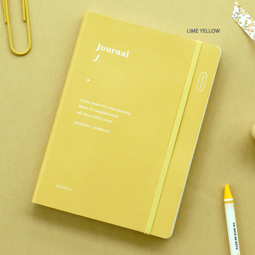 Lime Yellow - ICONIC 2021 Journal Journey dated weekly diary planner