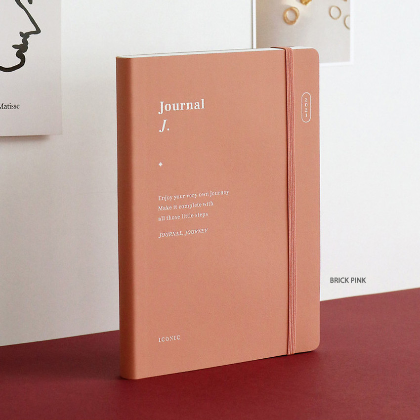 Brick Pink - ICONIC 2021 Journal Journey dated weekly diary planner