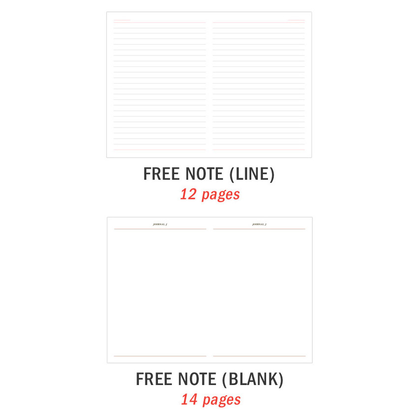 Free note - ICONIC 2021 Journal Journey dated weekly diary planner