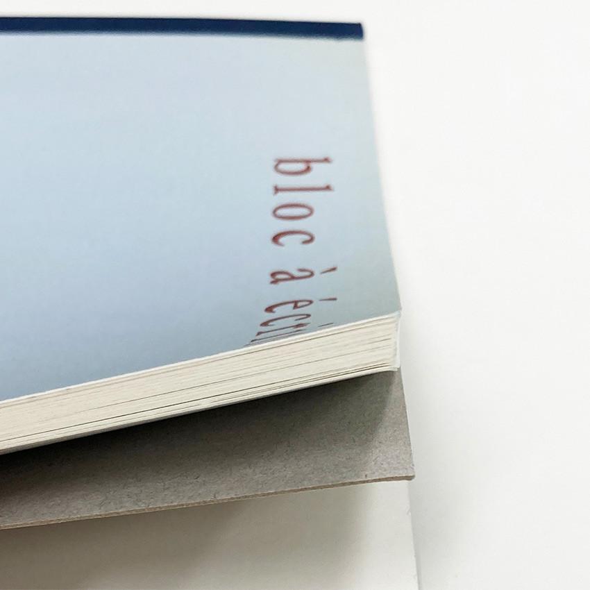 Sturdy back - O-check Vintage blue A5 blank notepad
