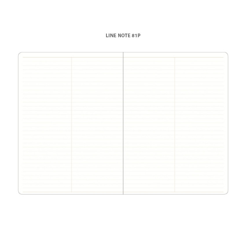 Lined note - 2021 Notable memory slim B5 dated monthly planner