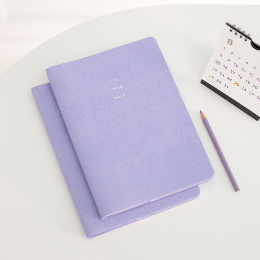 Cotton violet - 2021 Notable memory slim B5 dated monthly planner
