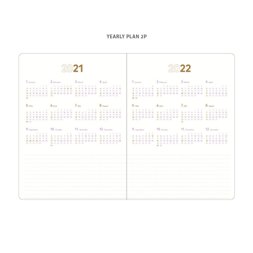 Yearly plan - 2021 Notable memory slim B5 dated monthly planner