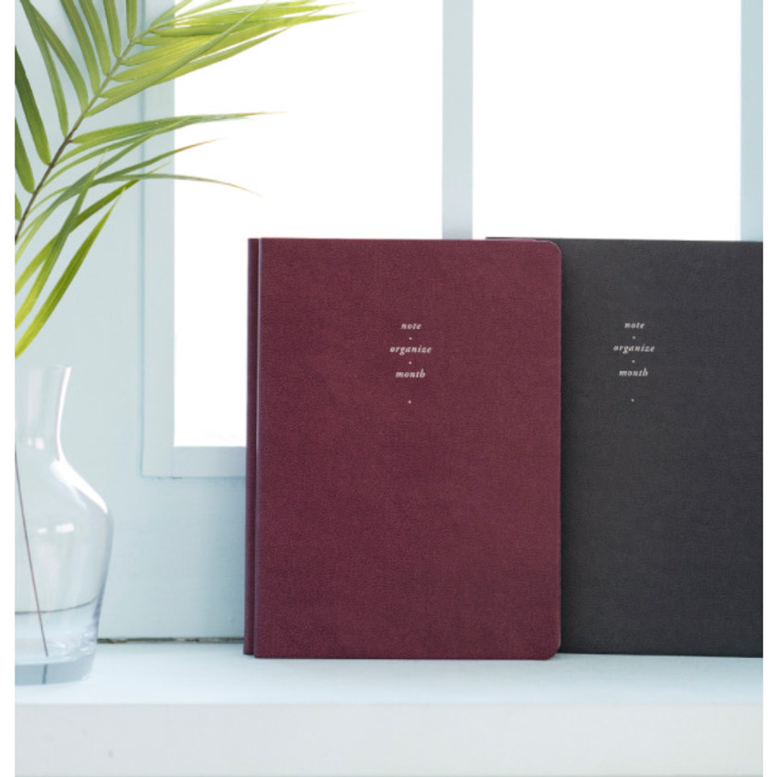 Red wine - 2021 Notable memory slim B5 dated monthly planner