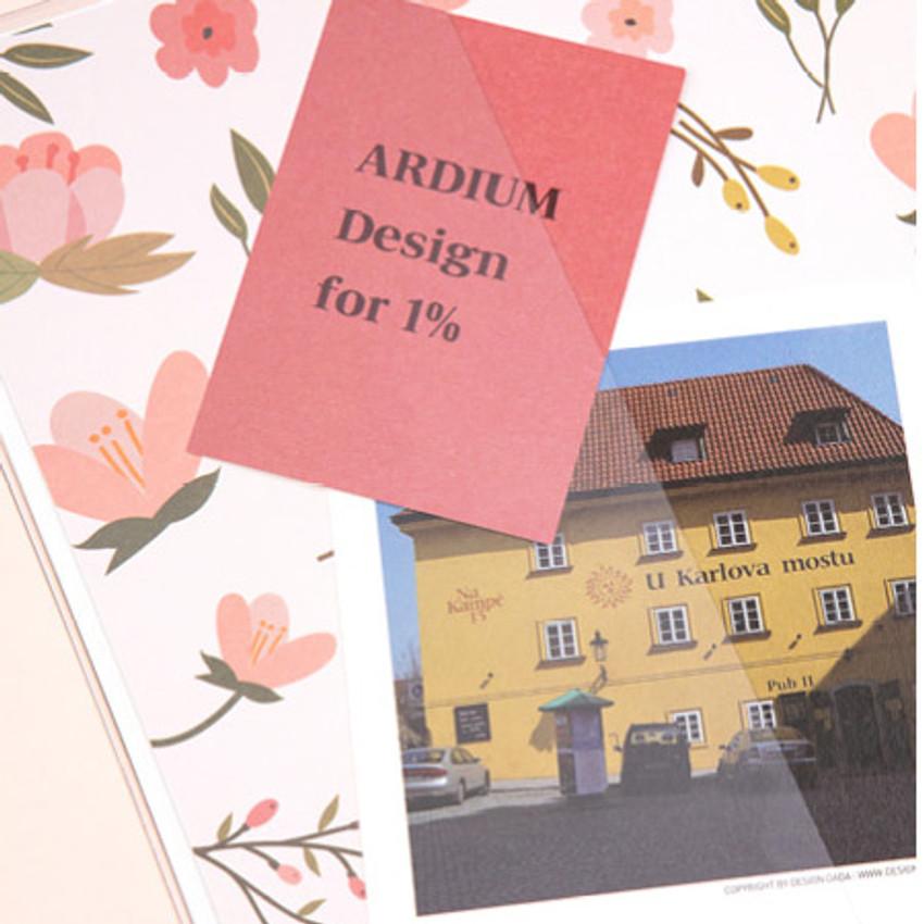 Pocket  - Ardium 2021 Flower dated weekly diary planner
