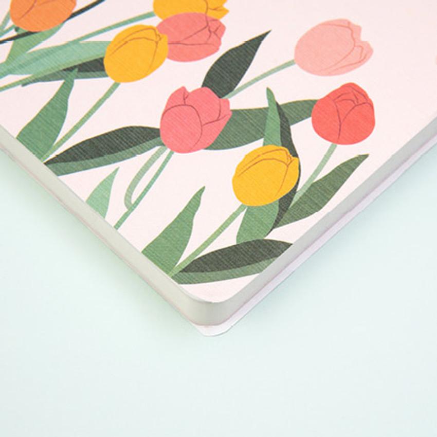 Round edges - Ardium 2021 Flower dated weekly diary planner