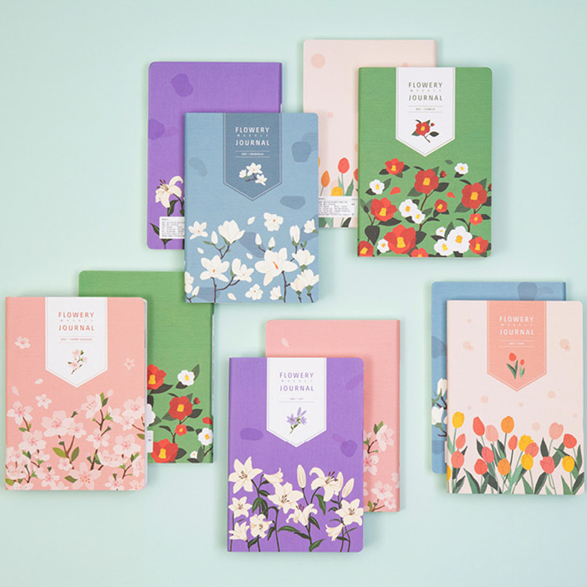 Ardium 2021 Flower dated weekly diary planner
