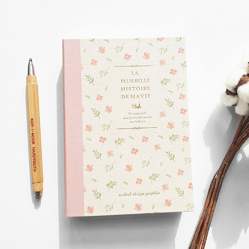 Pink Flower - O-CHECK 2021 Eco friendly A6 dated daily diary planner