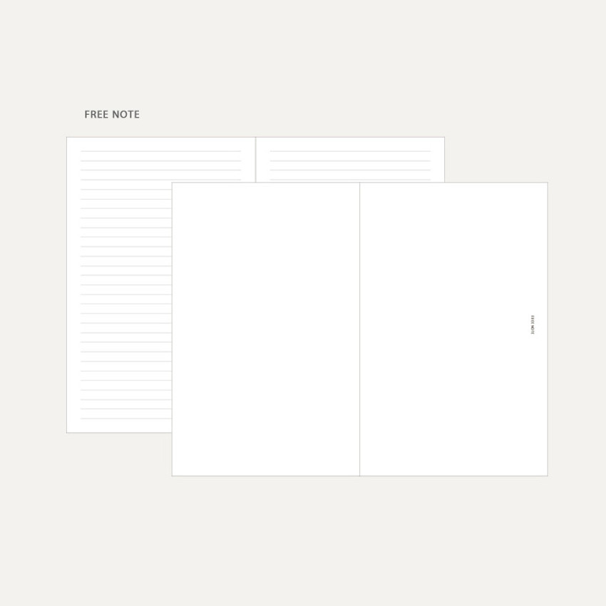 Free note - Dash And Dot 2021 Aesthetic small dated weekly diary planner