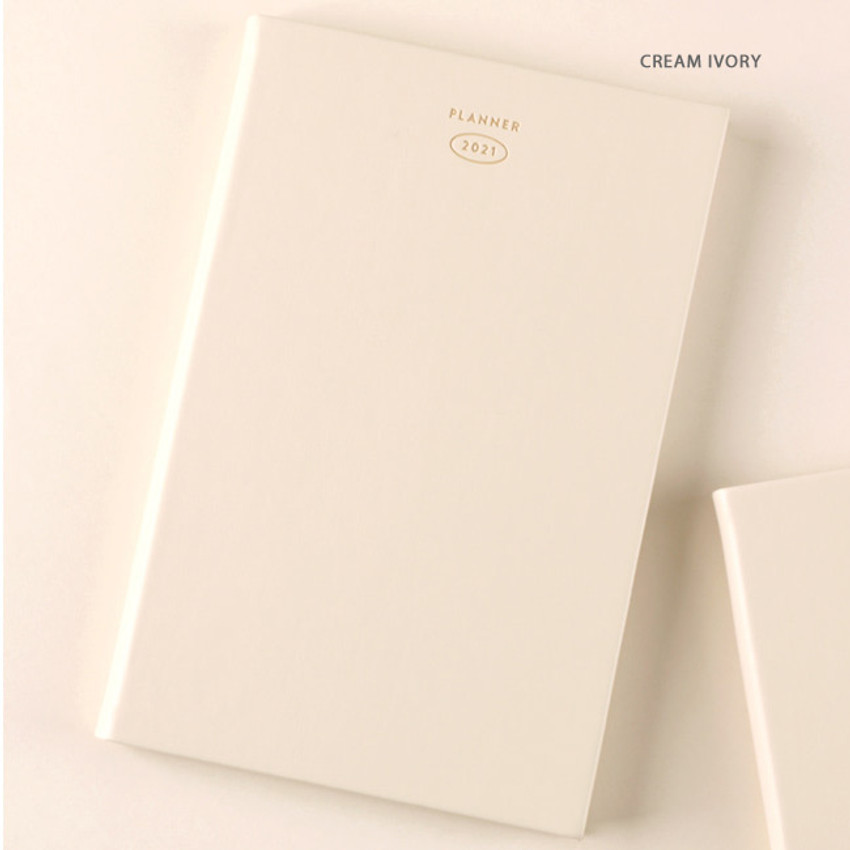 Cream Ivory - Dash And Dot 2021 Aesthetic small dated weekly diary planner