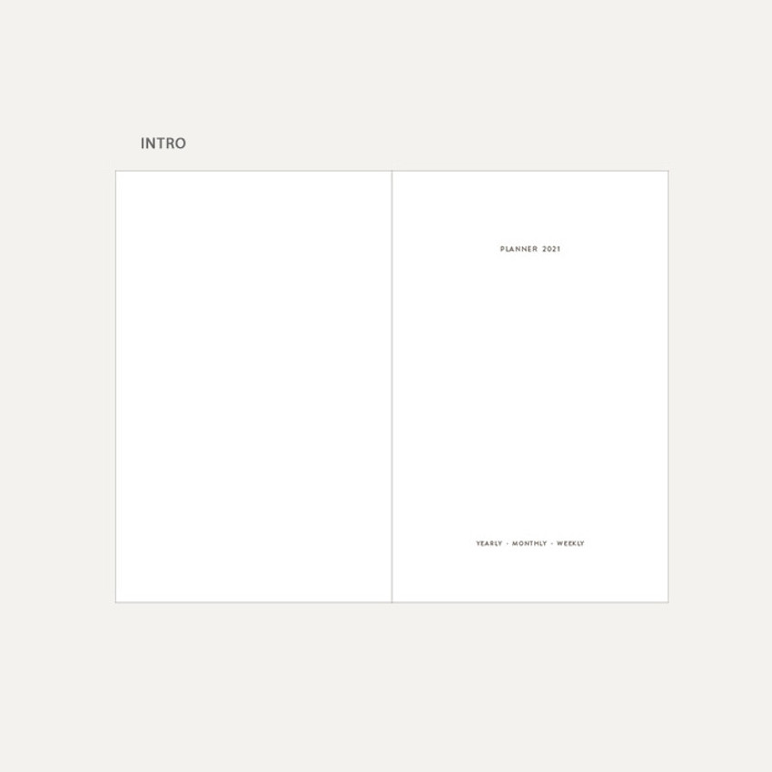 Intro - Dash And Dot 2021 Aesthetic small dated weekly diary planner