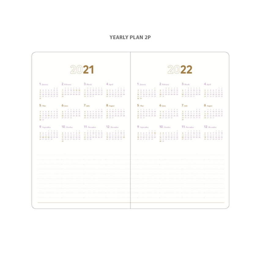Yearly plan - 2021 Notable memory medium dated weekly planner
