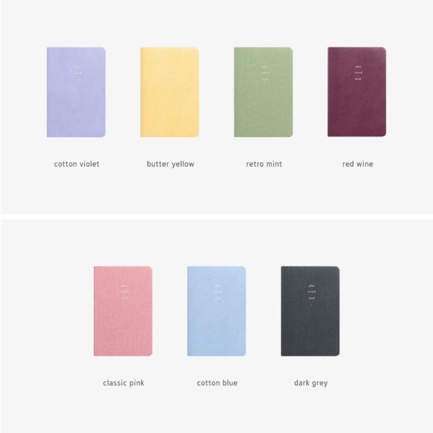 Colors of 2021 Notable memory medium dated weekly planner