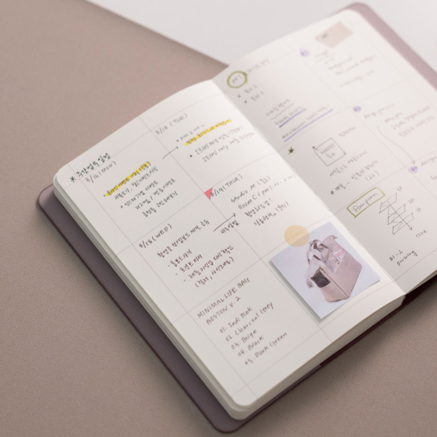 Square note - 2021 Notable memory medium dated weekly planner