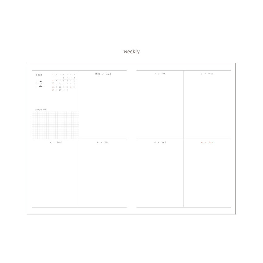 Weekly plan - Dash And Dot 2021 Wish dated weekly diary planner ver6