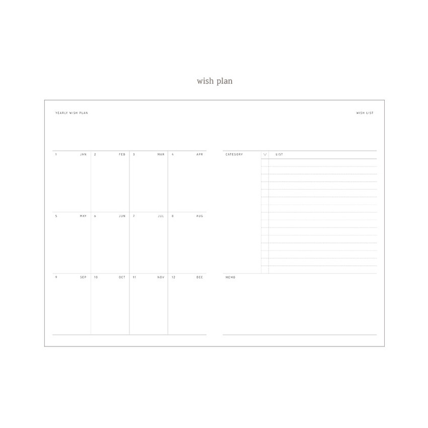 Wish plan - Dash And Dot 2021 Wish dated weekly diary planner ver6