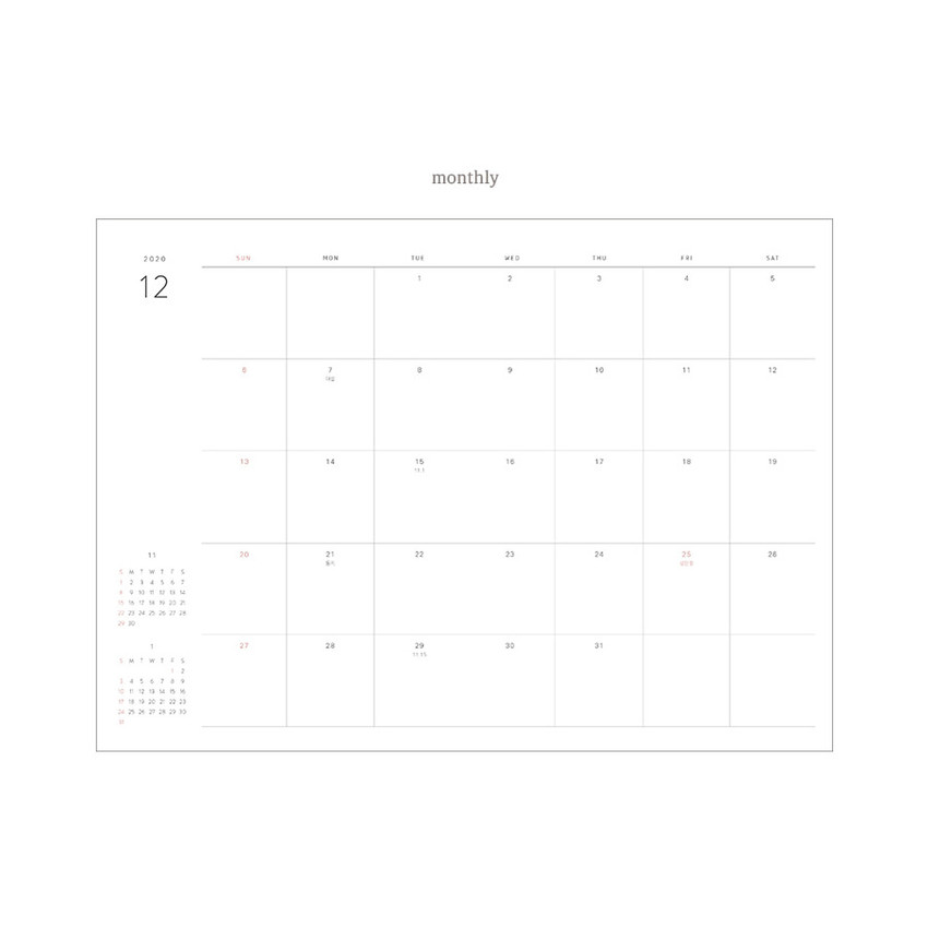 Monthly plan - Dash And Dot 2021 Wish dated weekly diary planner ver6
