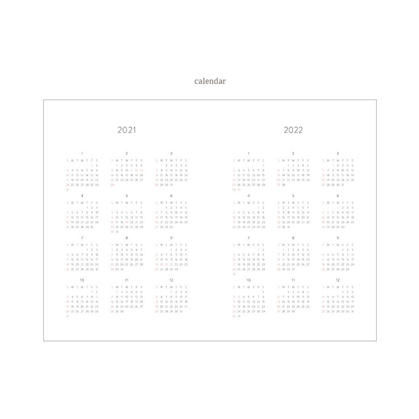 Calendar - Dash And Dot 2021 Wish dated weekly diary planner ver6