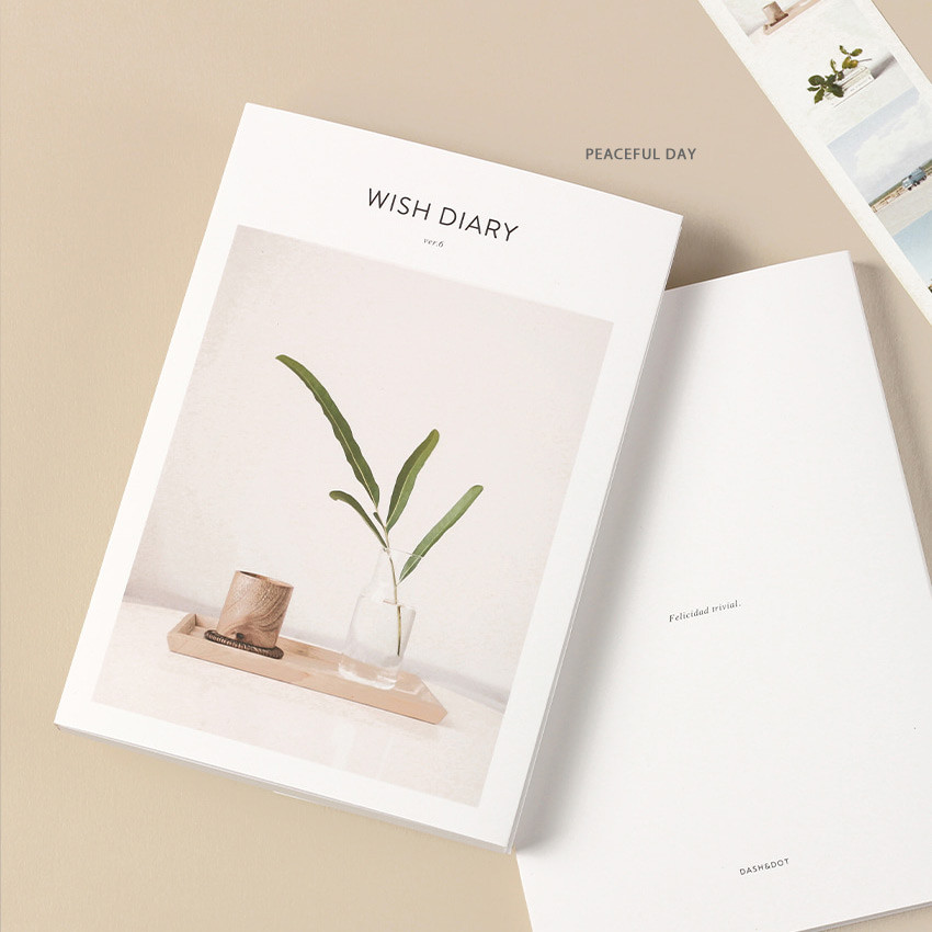Peaceful day - Dash And Dot 2021 Wish dated weekly diary planner ver6