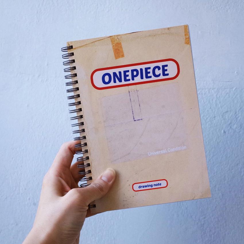 A5 size - UNIVERSAL CONDITION Natural Beige wirebound blank notebook
