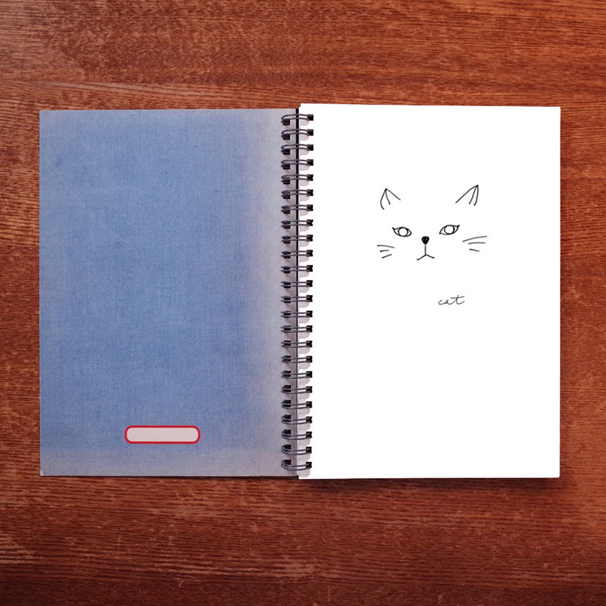 Plain page - UNIVERSAL CONDITION French blue wirebound blank notebook