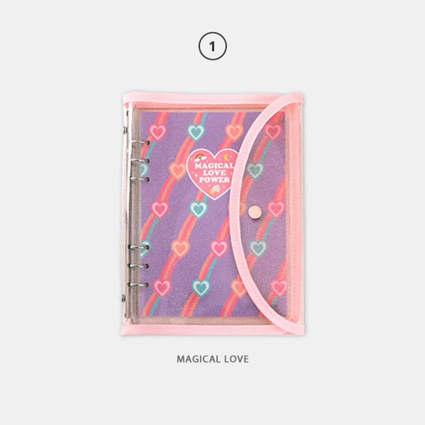 01 Magical love - Second Mansion Retro 6-ring A5 undated weekly planner