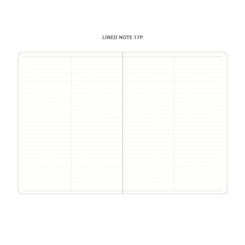 Lined note - 2021 Notable memory slim B5 dated weekly planner