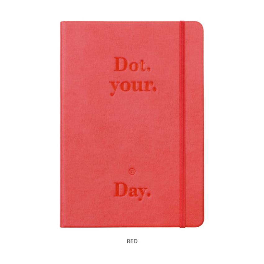 Red - After The Rain 2021 Dot your day dated weekly diary planner