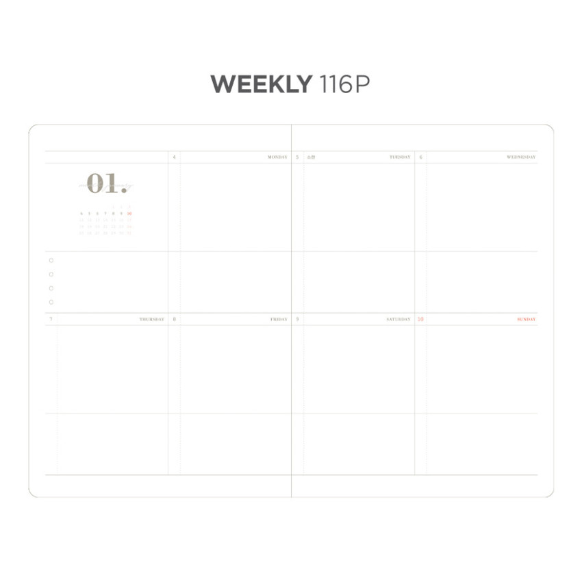 Weekly plan - After The Rain 2021 Dot your day dated weekly diary planner