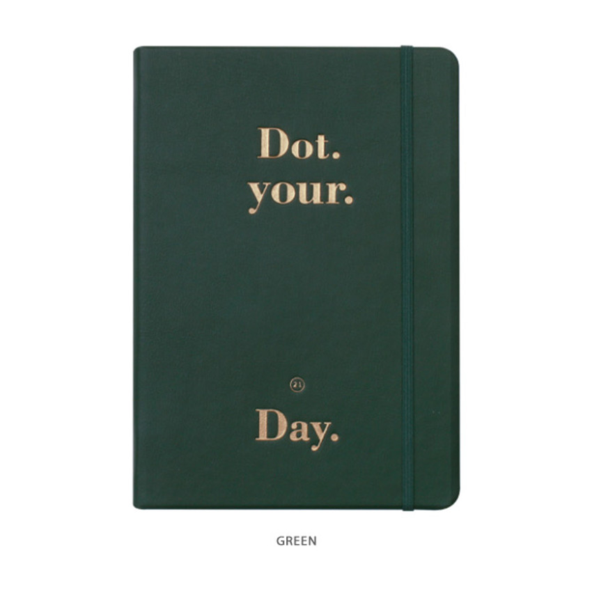 Green - After The Rain 2021 Dot your day dated weekly diary planner