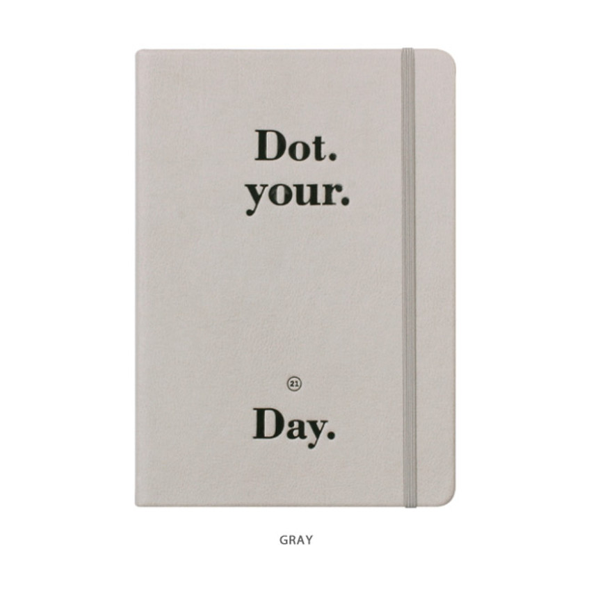 Gray - After The Rain 2021 Dot your day dated weekly diary planner