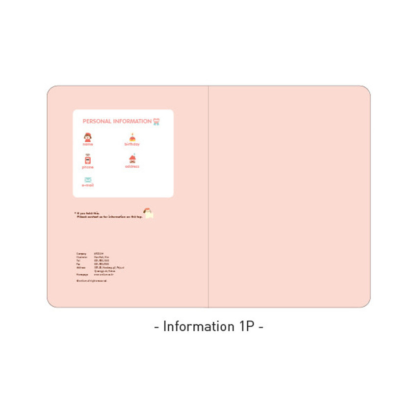 Information - Ardium 2021 Hello coco dated monthly diary planner