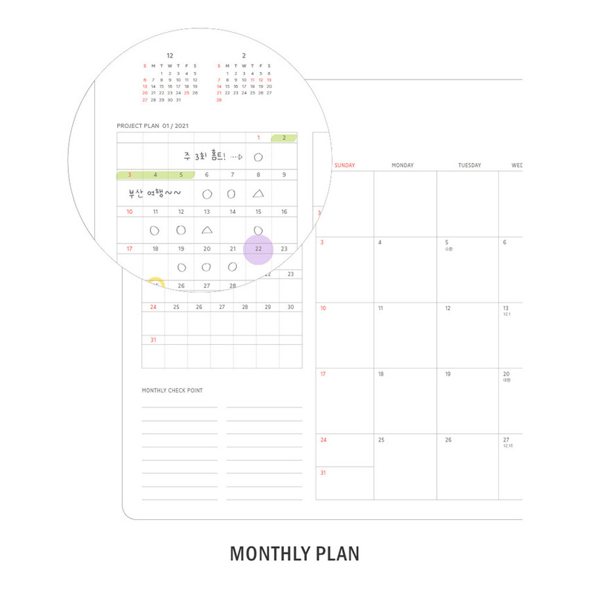 Monthly plan - ICONIC 2021 Brilliant dated weekly diary planner