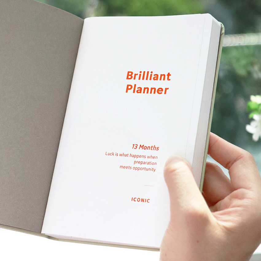 Intro - ICONIC 2021 Brilliant dated weekly diary planner