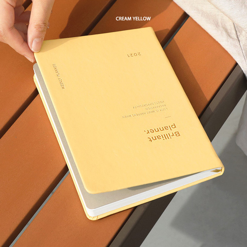 Cream Yellow - ICONIC 2021 Brilliant dated weekly diary planner