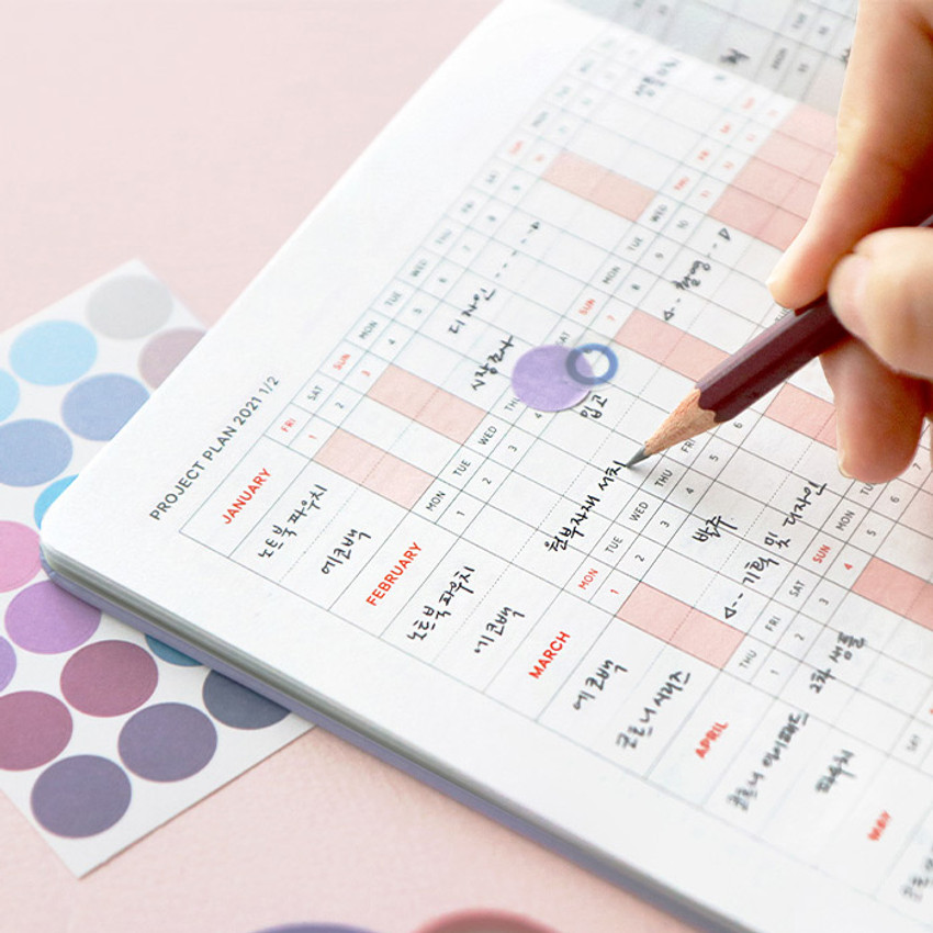 Project plan - ICONIC 2021 Brilliant dated weekly diary planner