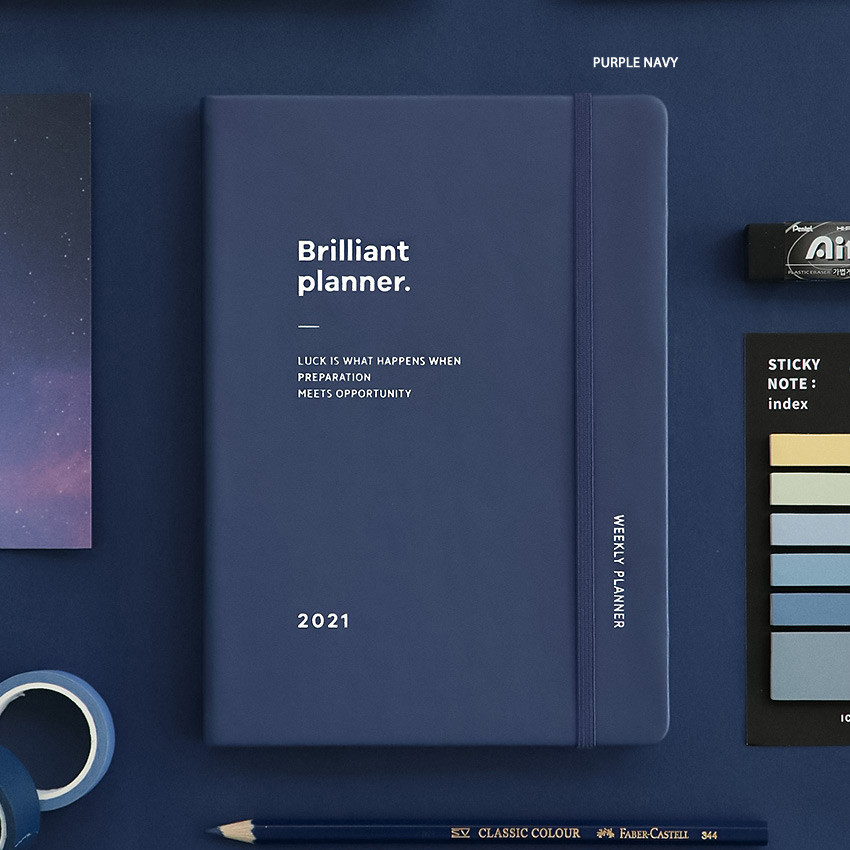 Purple Navy - ICONIC 2021 Brilliant dated weekly diary planner