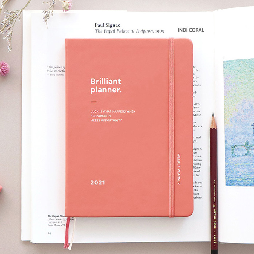 Indi Coral - ICONIC 2021 Brilliant dated weekly diary planner